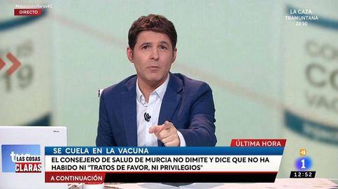 El estallido de indignación de Jesús Cintora en TVE con el consejero de Salud de Murcia