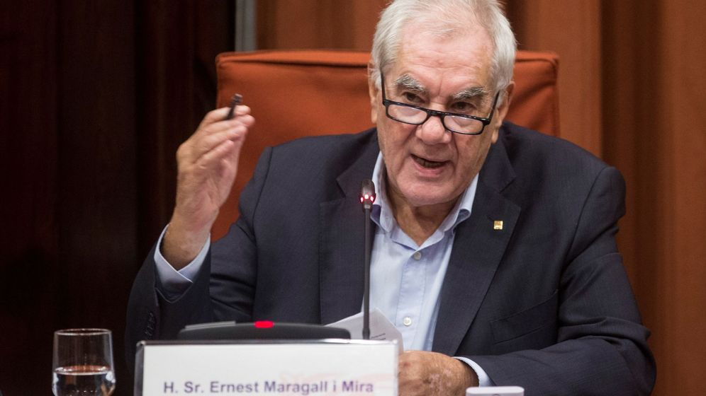 Foto: El 'conseller' Ernest Maragall en el Parlament. (EFE)