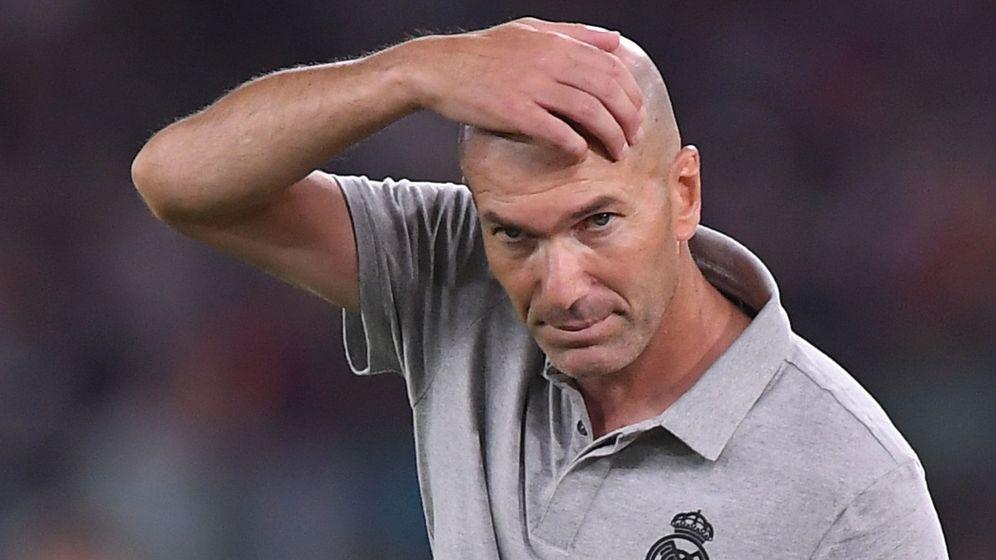 Foto: Zidane en el partido de pretemporada ante la Roma. (REUTERS)