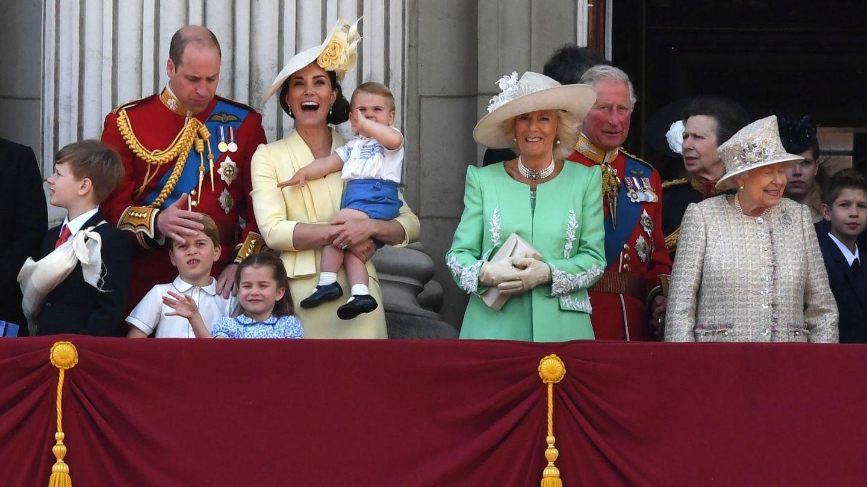 La familia real británica durante el Trooping the Colour 2019. (EFE)