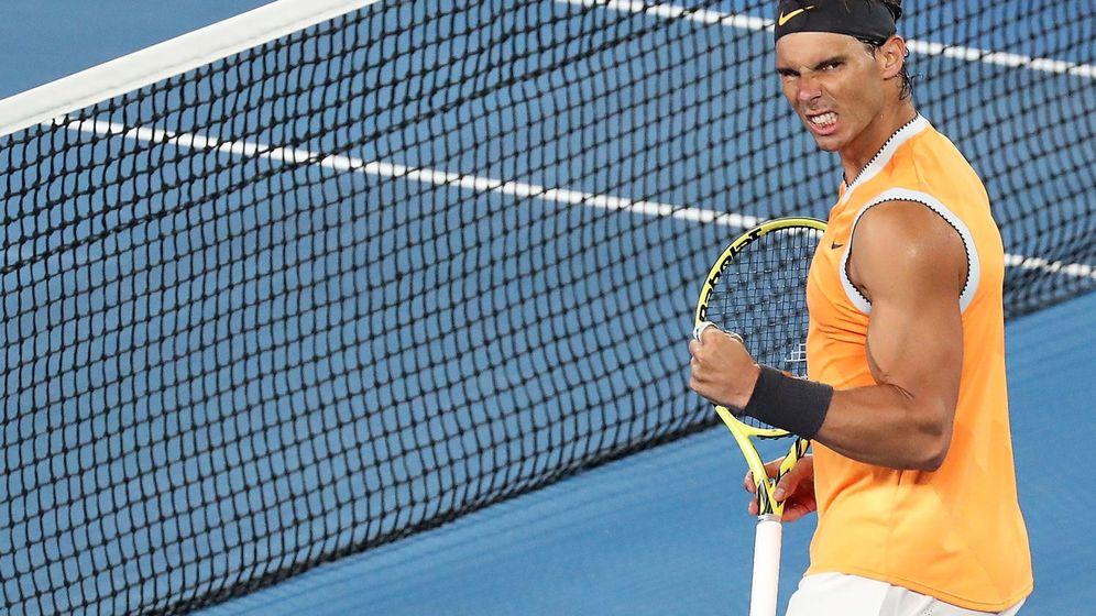 Foto: Rafa Nadal tras pasar a semifinales de Australia. (EFE)
