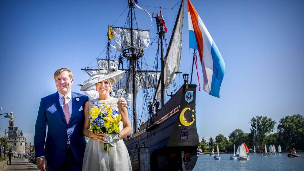 Máxima de Holanda, con transparencias y ¿look de boda civil?