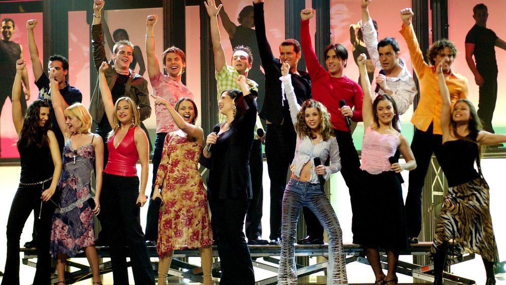 Foto: Los concursantes de la primera edición de 'Operación Triunfo' en 2002 (Gtres)