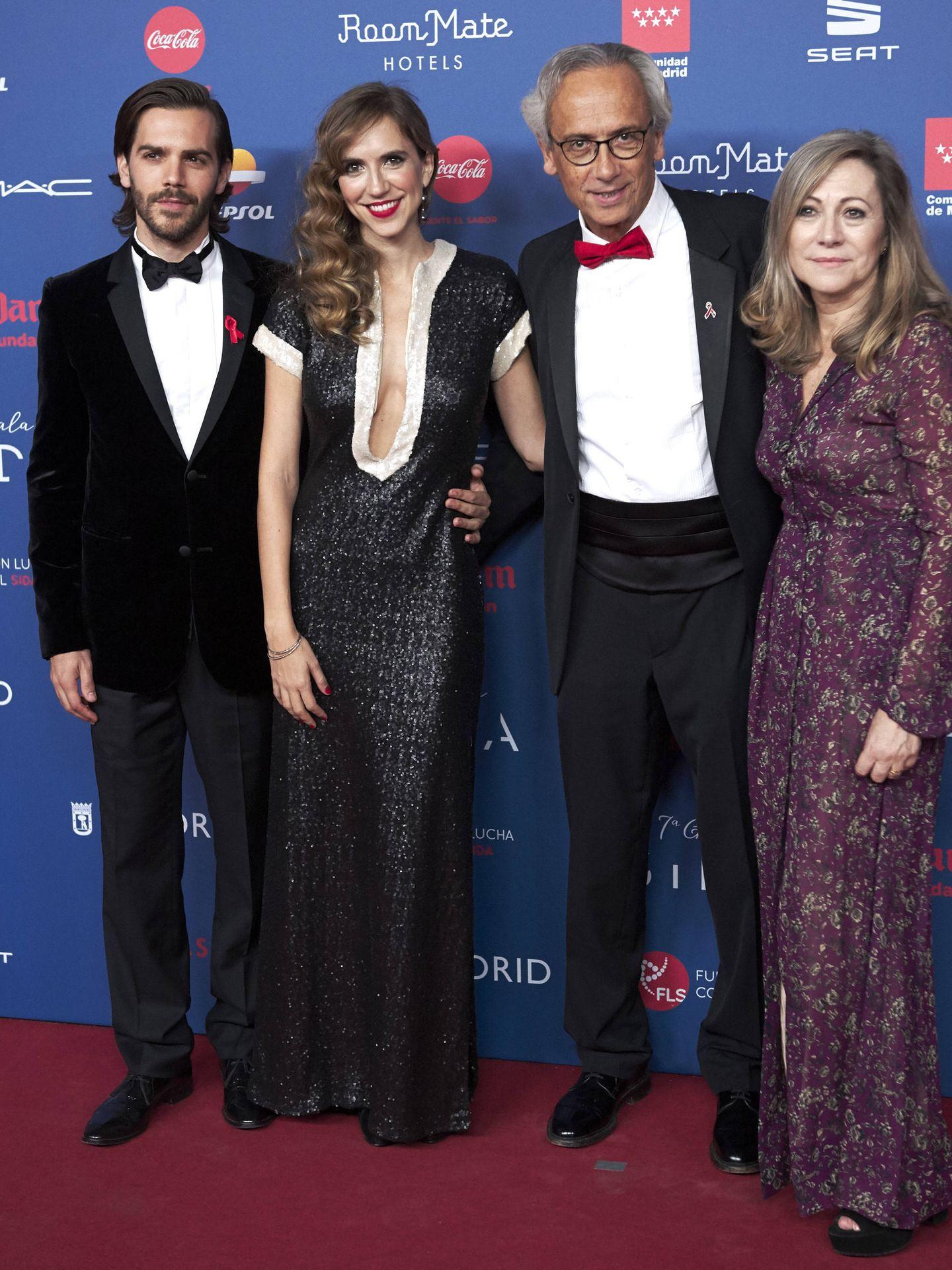 Aina Clotet, con sus padres y con su hermano en una imagen de archivo. (Getty)