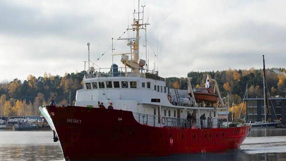 Foto: El barco de la organización Defend Europe parte hacia las costas de Libia.