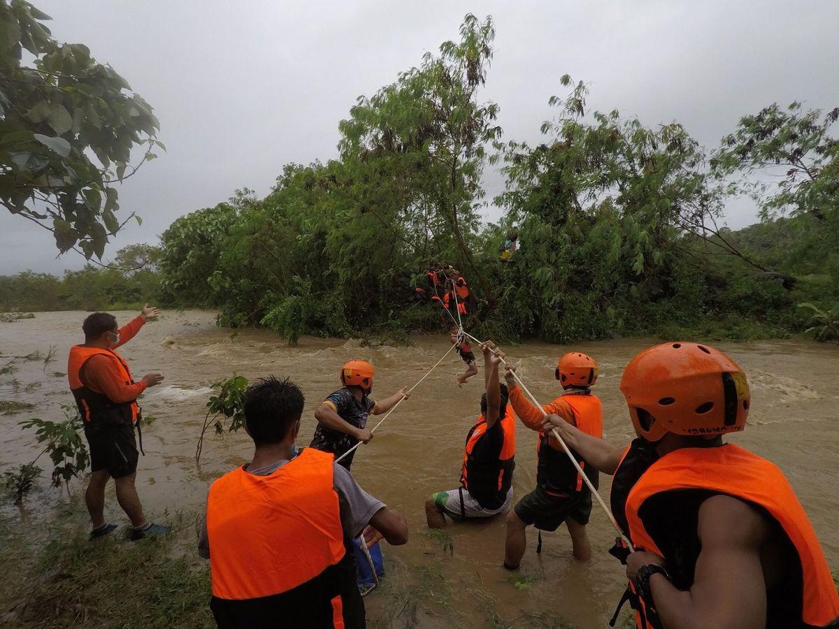 Foto: Inundaciones en Filipinas. (EFE)