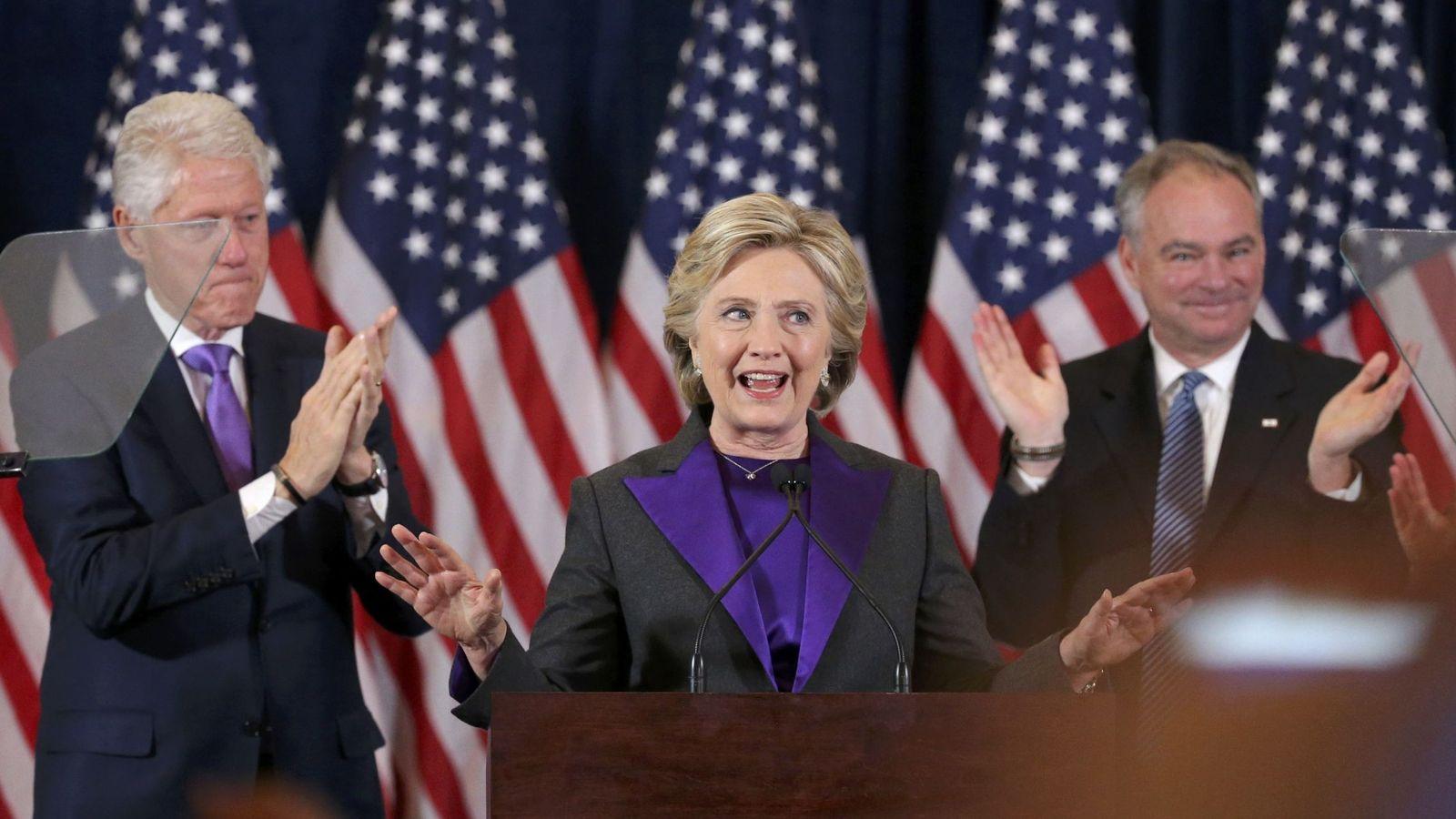 Foto: Hillary Clinton tras la derrota electoral. (Reuters)