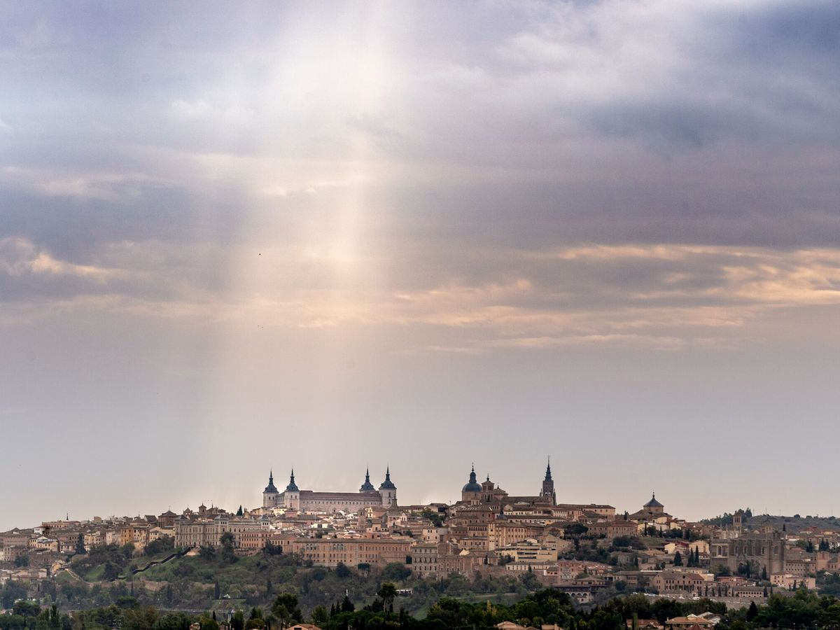 Foto: Vista de Toledo después de las precipitaciones de la semana pasada. Foto: EFE