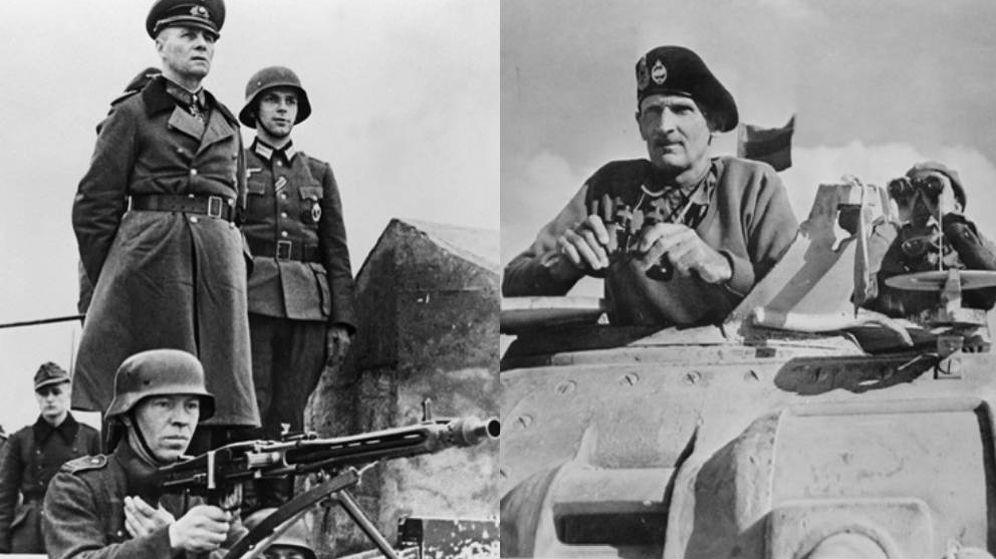 Foto: Erwin Rommel y Bernard Law Montgomery