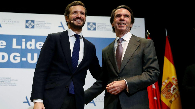 Foto: El presidente del PP, Pablo Casado, y el expresidente del Gobierno José María Aznar. (EFE)