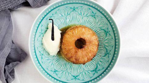 Vídeo-receta: piña caramelizada sobre crema de mascarpone