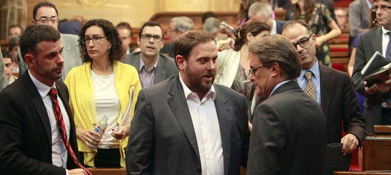 Foto: Artur Mas y Oriol Junqueras, en una imagen de archivo. (Efe)