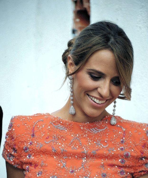 Foto: Laura Vecino, en la boda de Mercedes Bohórquez Domecq. (Cordon Press)