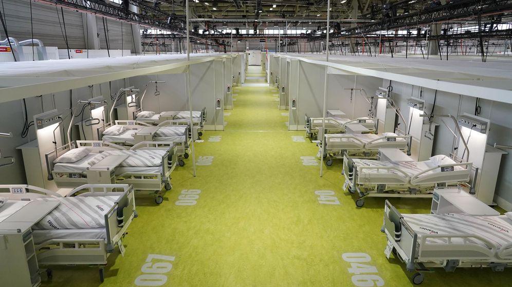 Foto: Un hospital temporal de Berlín, casi vacío por la estabilización de la pandemia. (EFE)