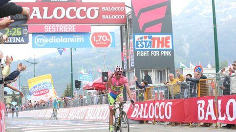 El Contador más débil aguanta para ganar virtualmente su segundo Giro
