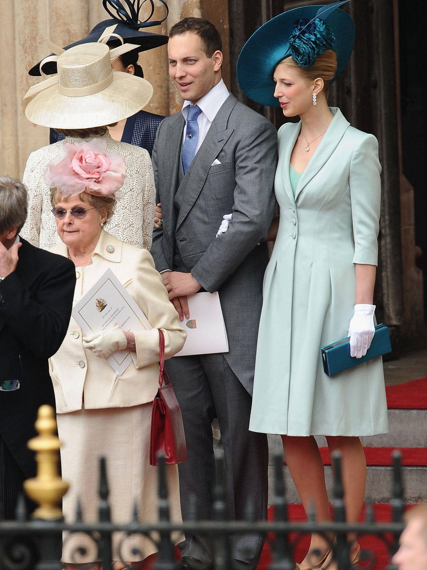 Lady Gabriella Windsor, con su hermano. (Getty)