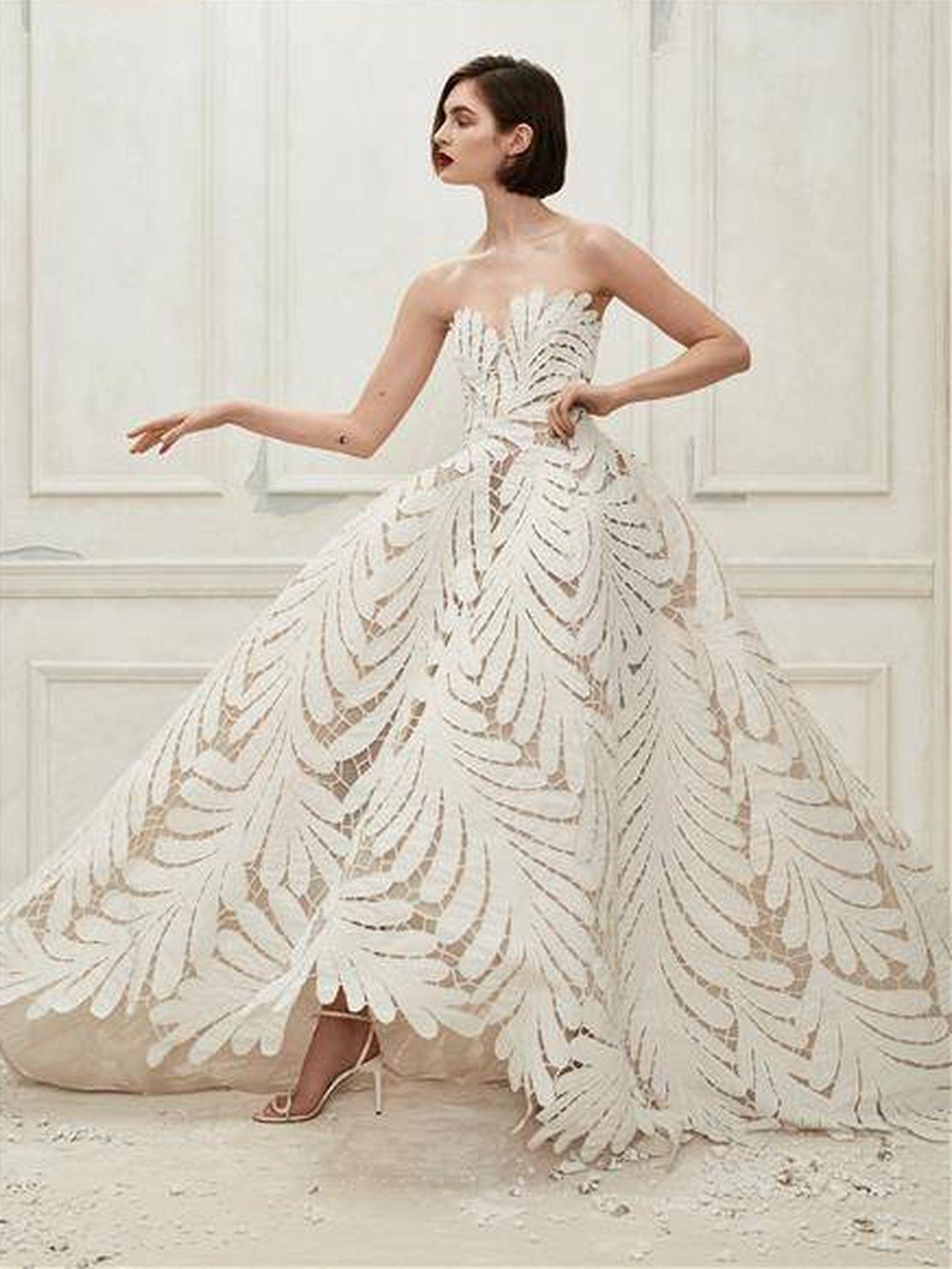 Diseño de la colección Bridal Spring 2019 de Oscar de la Renta. (Cortesía)