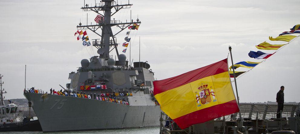 Foto: El primer destructor estadounidense del escudo antimisiles llegó a Rota el 11 de febrero. (EFE)
