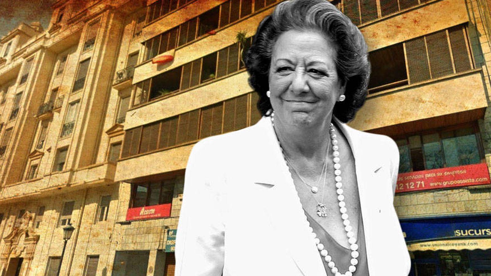 Foto: Rita Barberá y la que fuera su casa, en un fotomontaje elaborado por Vanitatis.
