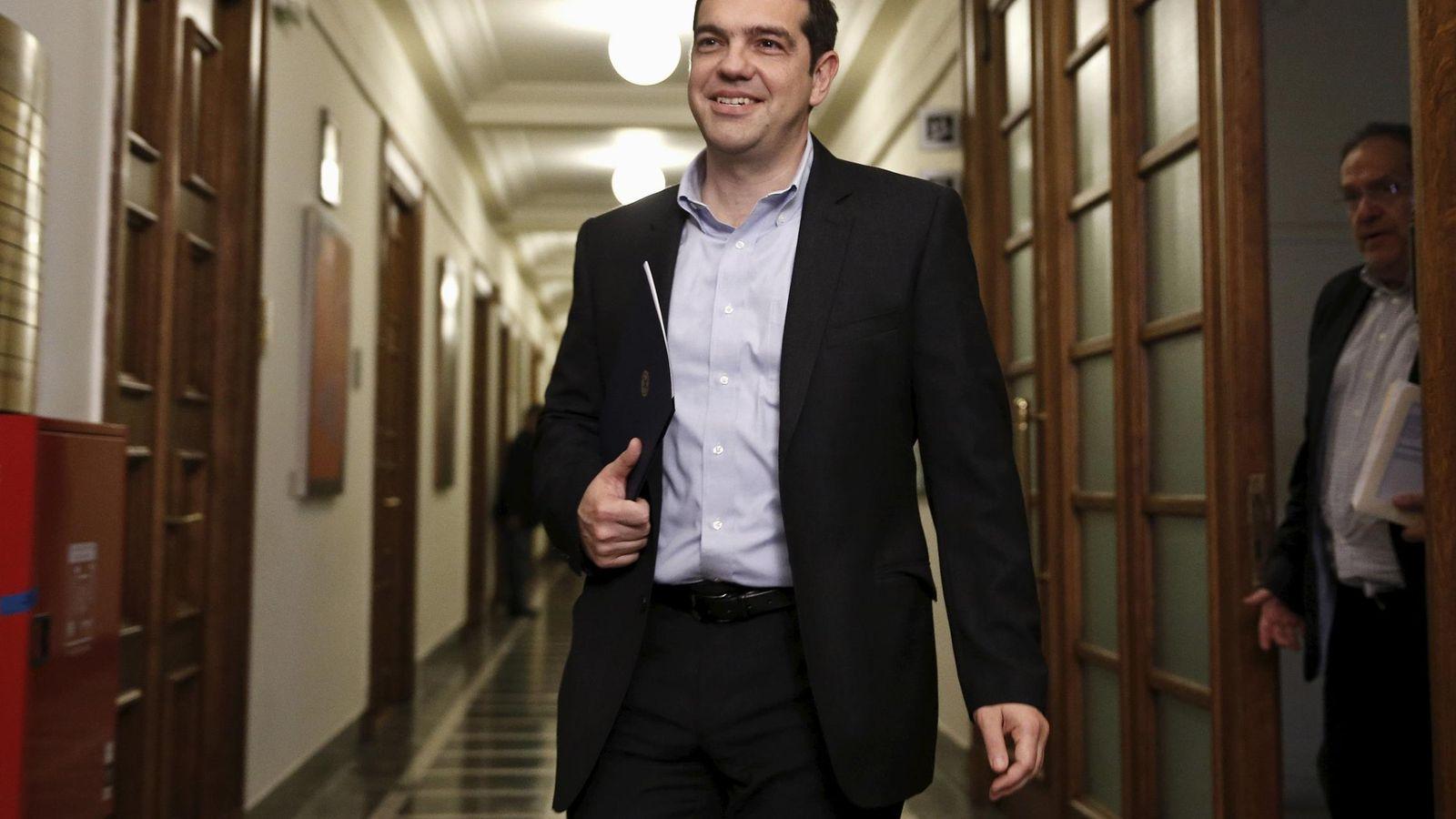 Foto: Grecia afronta este miércoles el pago de 200 millones de euros en intereses al FMI. En la imagen, el primer ministro griego, Tsipras (Reuters)