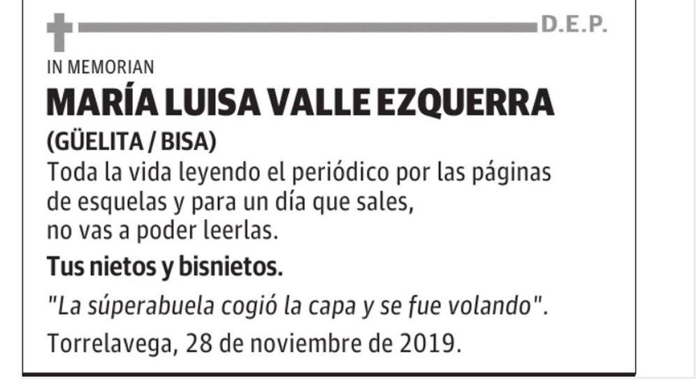 Foto: La esquela se publicó tanto en la web como en la versión en papel de El Diario Montañés