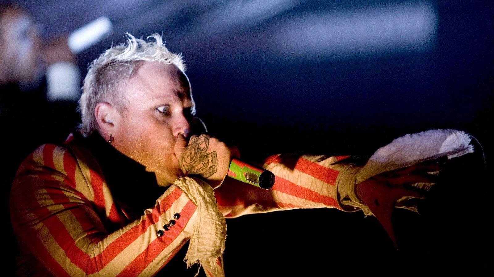 Foto:  El cantante de la banda británica The Prodigy, Keith Flint, durante una actuación en Suiza en 2008