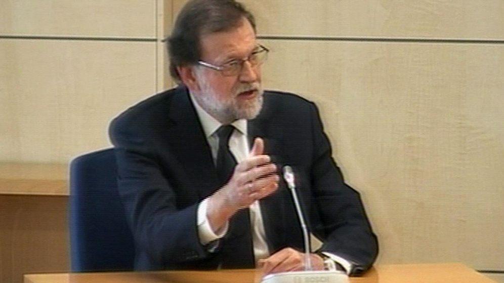 Foto: Rajoy, durante su declaración en el juicio del caso Gürtel. (Reuters)