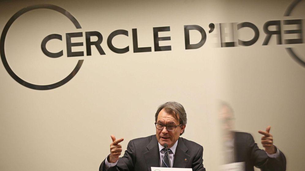 Foto: Imagen de archivo de una conferencia de Artur Mas en el Círculo de Economía. (EFE)