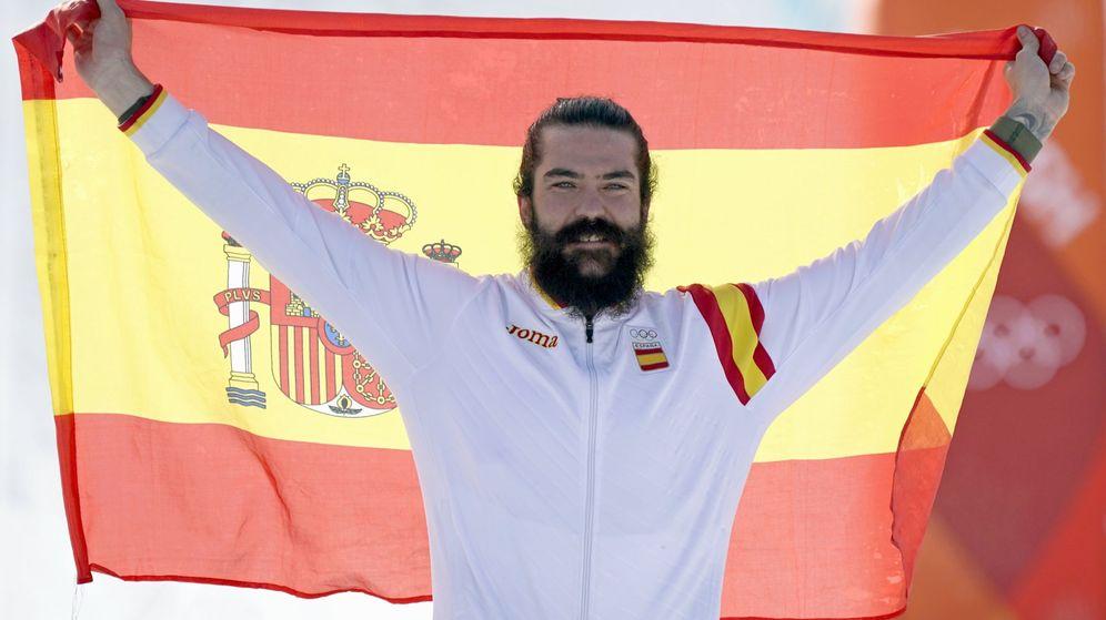 Foto: Regino Hernández celebra su bronce en los Juegos de PyeongChang. (Reuters)