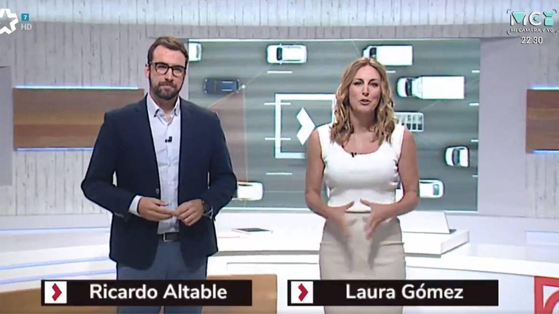 Ricardo Altable y Laura Gómez, presentadores de 'Buenos Días Madrid'. (Telemadrid)