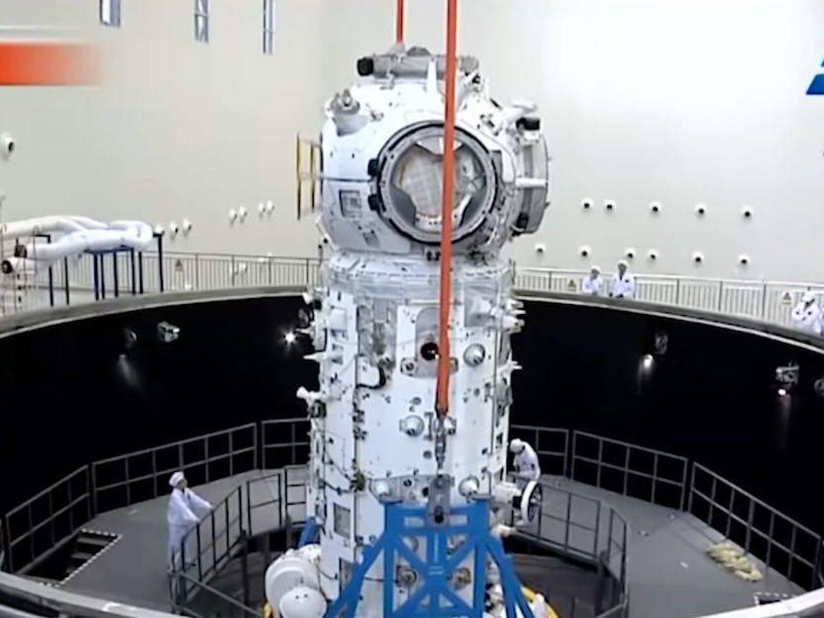 Foto: El módulo Tianhe de la estación espacial china Tiangong (CMSA)