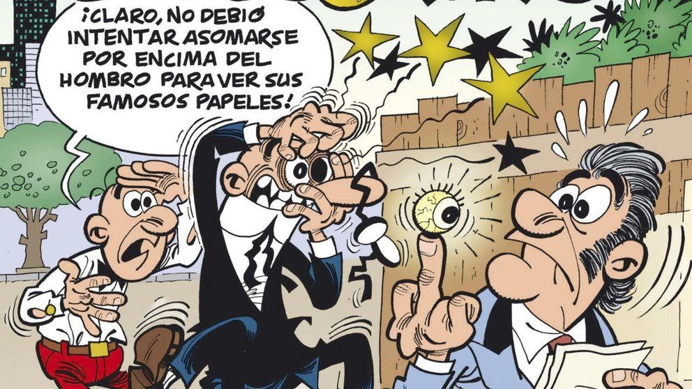 Mortadelo y Filemón persiguen a Bárcenas