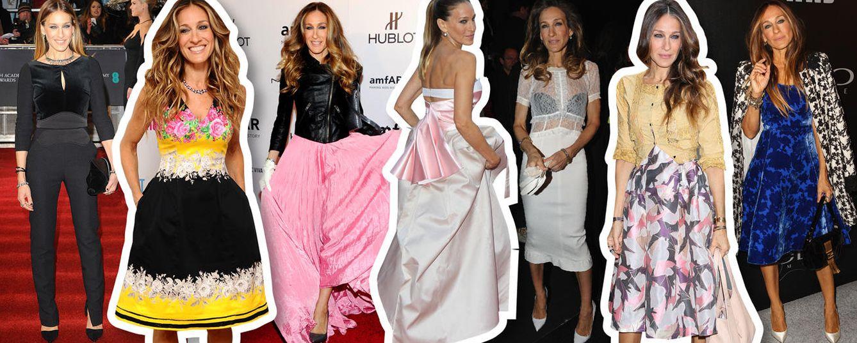 Foto: Transparencias, flores, 'glam' y lady. En cualquier situación, SJP demuestra por qué sigue siendo un referente en moda