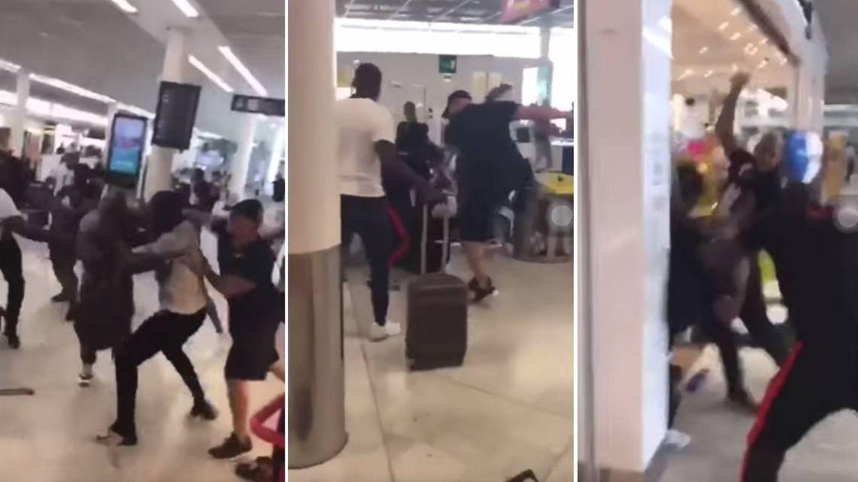 El vídeo de la brutal pelea entre raperos en el aeropuerto de Orly que dejó once detenidos