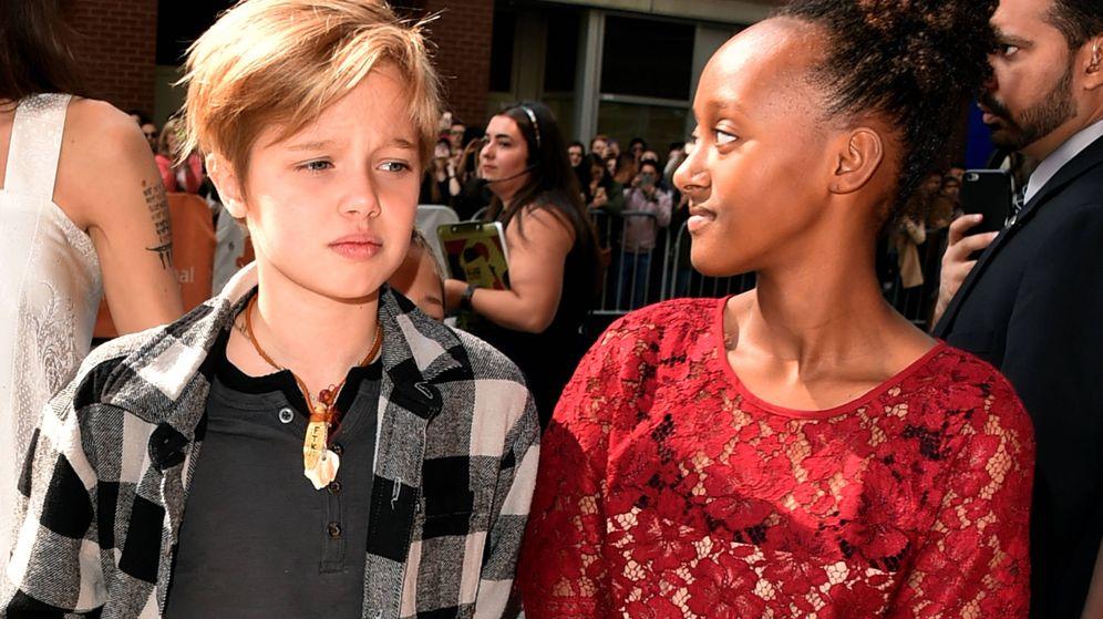 Foto:  Shiloh y Zahara Jolie Pitt. (Getty)