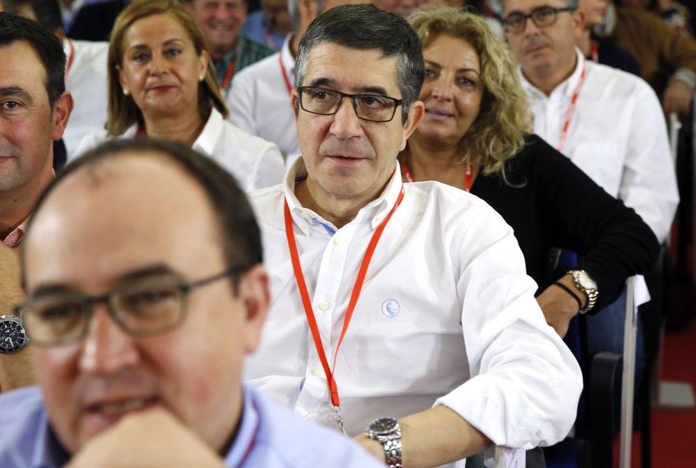 Foto: El lehendakari y expresidente del Congreso Patxi López, el pasado 23 de octubre en Ferraz, en la última reunión del comité federal. (EFE)