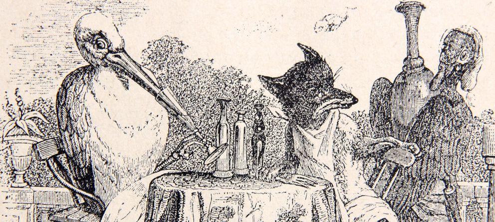 Foto: Ilustración de un libro de fábulas (CC)