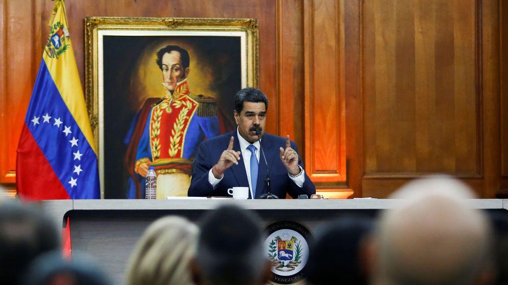 Foto: El presidente de Venezuela, Nicolás Maduro, durante la rueda de prensa en el Palacio de Miraflores. (Reuters)