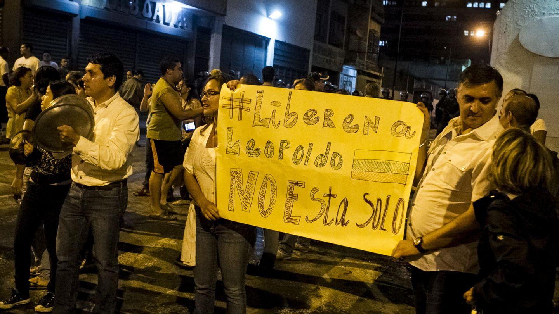 Protesta contra el Gobierno venezolano en Caracas (Efe).