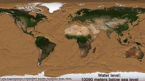 El vídeo que muestra cómo sería nuestro planeta si los océanos desaparecieran