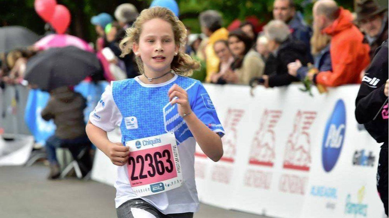 Irene Urdangarin, en la carrera en Ginebra que corrió con su padre y su tía. (D.R)