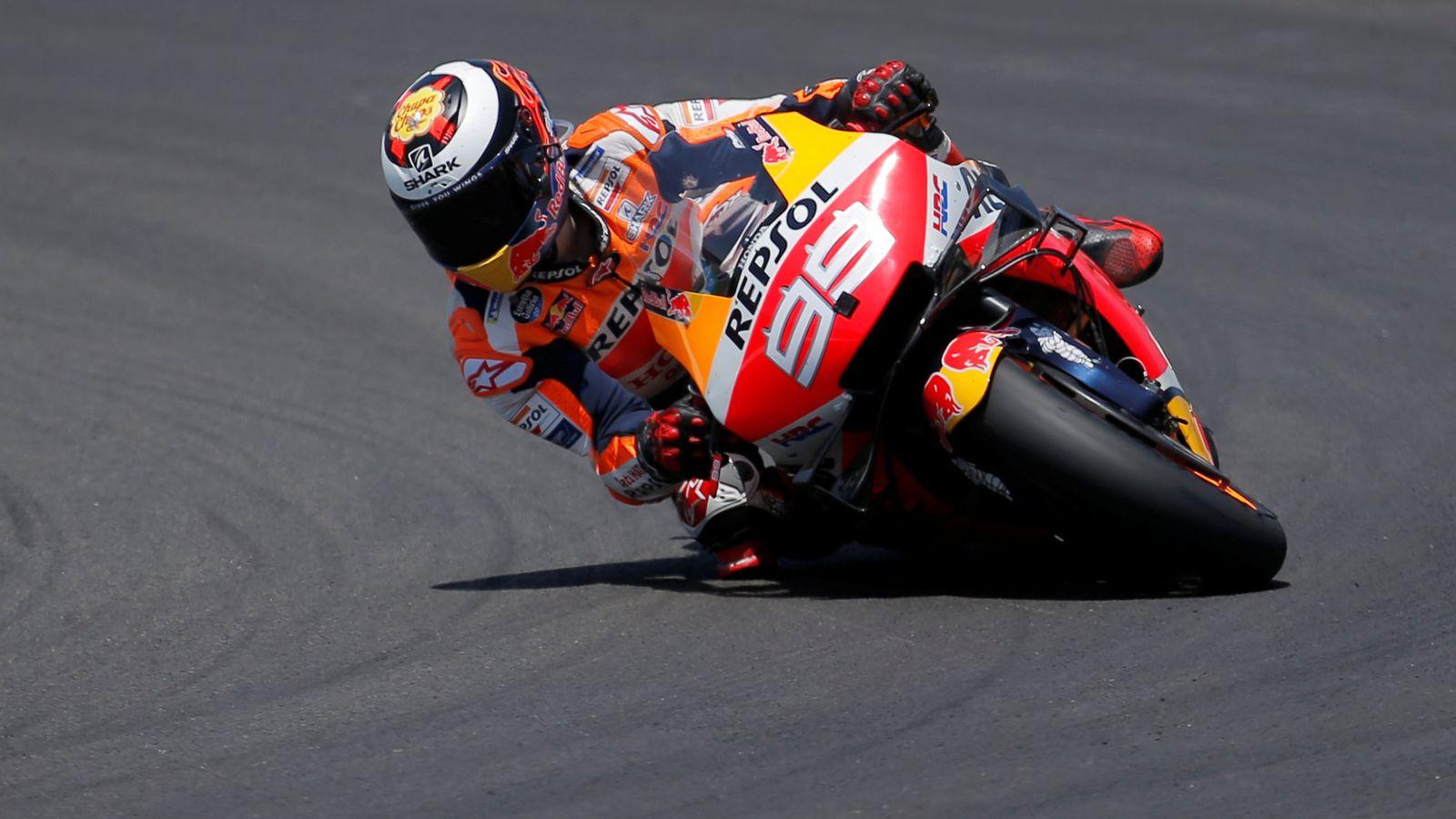 Foto: Jorge Lorenzo, durante el Gran Premio de Jerez. (Reuters)