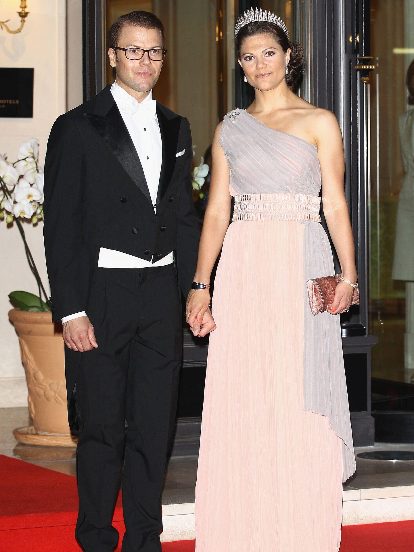 Daniel y Victoria de Suecia, en la boda de Alberto y Charlène de Mónaco. (Getty)