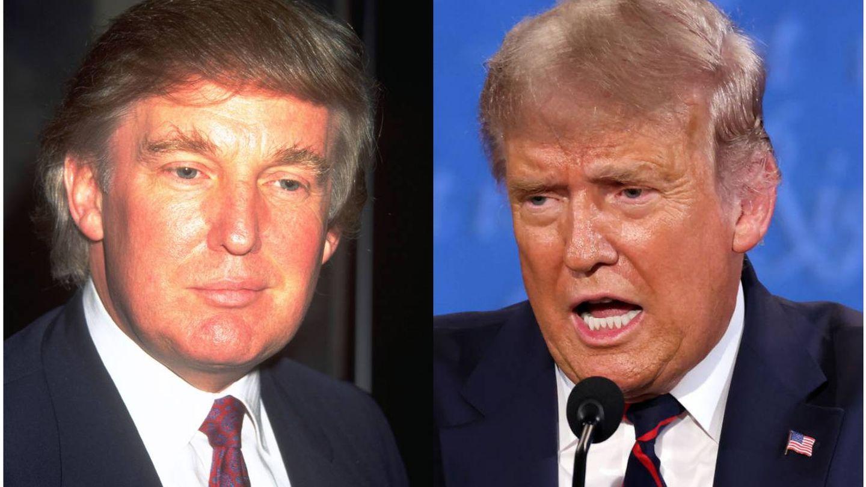 Donald Trump en 1999 versus Donald Trump en 2020. (Getty)