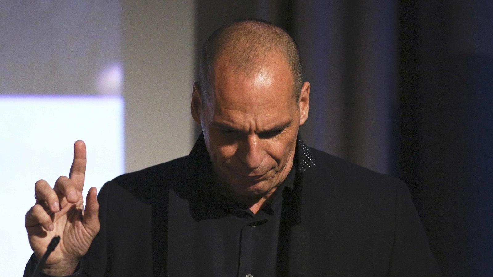 Foto: El economista Yanis Varoufakis, en Londres, apoyando la permanencia del Reino Unido en la UE. (Reuters)
