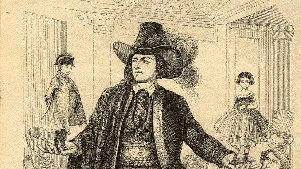 Foto: Un grabado del 'Gigante de Altzo'.