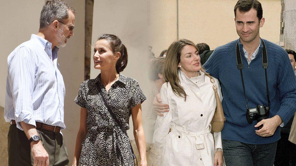 Foto: Felipe y Letizia, en Cuenca en 2020 y en 2004. (LP / EFE)