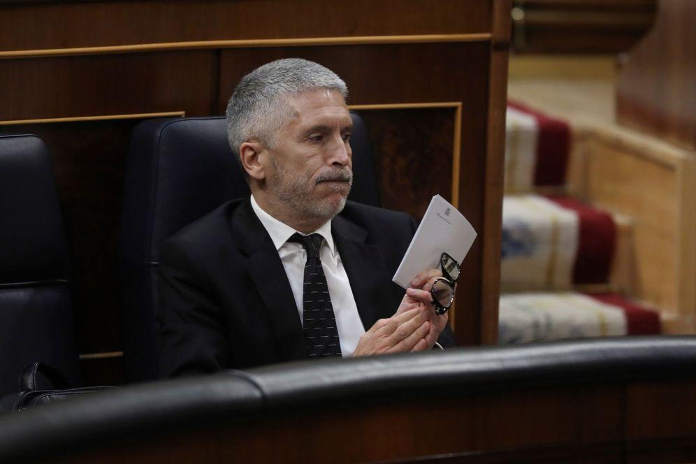 Foto: El ministro del Interior, Fernando Grande-Marlaska, el pasado 20 de mayo en el Congreso. (EFE)