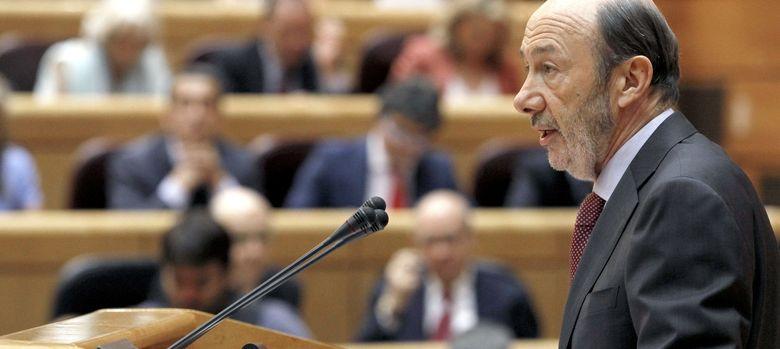 Foto: Alfredo Pérez Rubalcaba en el Senado. (EFE)