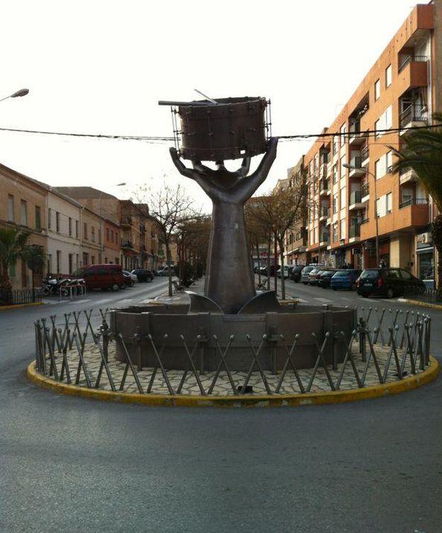 Foto: Monumento al tambor de Tobarra. (Wikimedia)